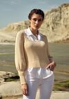 Jasnobeżowy Sweter Mysha