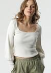 Biały Sweter Mysha
