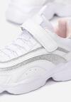 Biało-Srebrne Buty Sportowe Bernice