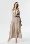Jasnobeżowa Sukienka Reply