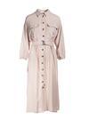 Jasnobeżowa Sukienka Lyle