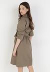 Ciemnozielona Sukienka Sanah