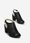 Czarne Sandały Marcelie