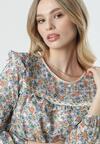 Biało-Beżowa Bluzka Ariadne