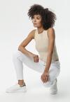Białe Spodnie Isdelle