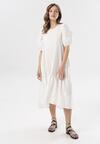 Biała Sukienka Petal