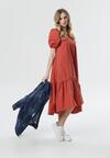 Łososiowa Sukienka Petal