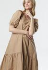 Beżowa Sukienka Petal