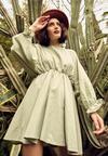 Miętowa Sukienka Sistine
