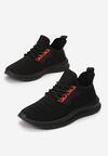 Czarno-Czerwone Buty Sportowe Thurdian