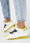 Biało-Żółte Sneakersy Chariclo
