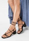 Czarne Sandały Pholora