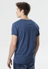 Ciemnoniebieska Koszulka Anthrecea