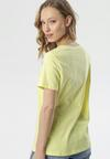 Żółty T-shirt Mystise