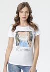 Biały T-shirt Lysiniassi