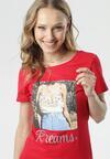Czerwony T-shirt Lysiniassi