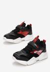 Czarno-Czerwone Buty Sportowe Peachstone