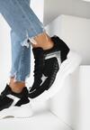 Czarne Sneakersy na Ukrytym Koturnie Bretiax