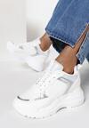 Białe Sneakersy na Ukrytym Koturnie Bretiax