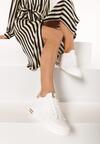Biało-Złote Sneakersy Xanthe