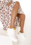 Biało-Żółte Sneakersy Xanthe