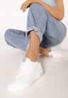 Biało-Niebieskie Sneakersy Xanthe