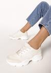 Beżowe Sneakersy Menodiace