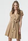 Ciemnobeżowa Sukienka Sabeana