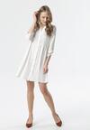 Biała Sukienka Mephite