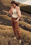 Ciemnobeżowe Spodnie Pontoreisa