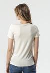 Kremowy T-shirt Rhene
