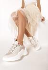 Beżowe Sneakersy Eluno