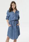 Niebieska Sukienka Polydora