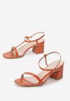 Pomarańczowe Sandały Lephice