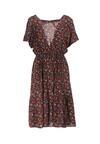 Granatowo-Czerwona Sukienka Excalibur