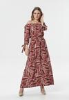 Bordowa Sukienka Olaurae