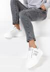 Biało-Srebrne Sneakersy Aranorin