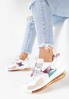 Biało-Różowe Sneakersy Sicalis