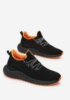Czarno-Pomarańczowe Buty Sportowe Broken Show