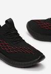 Czarno-Czerwone Buty Sportowe Arieciane