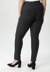 Granatowe Spodnie Jegginsy Sheiciane