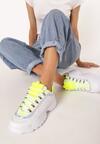 Biało-Limonkowe Sneakersy Daphnia