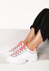 Biało-Fuksjowe Sneakersy Daphnia