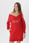 Czerwona Sukienka Adrielure