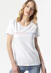 Biały T-shirt Aglaomeni