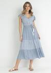 Niebieska Sukienka Echolyn