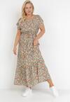 Beżowa Sukienka Nahlei
