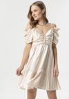 Jasnobeżowa Sukienka Evenhall