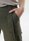 Ciemnozielone Spodnie Uxia