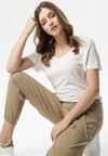 Beżowe Spodnie Uxia